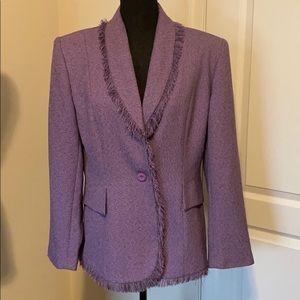Clio 2 Suit purple tweed blazer 14